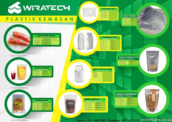 Image result for plastik kemasan wiratech