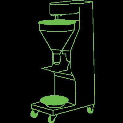 mesin cetak bakso siluet