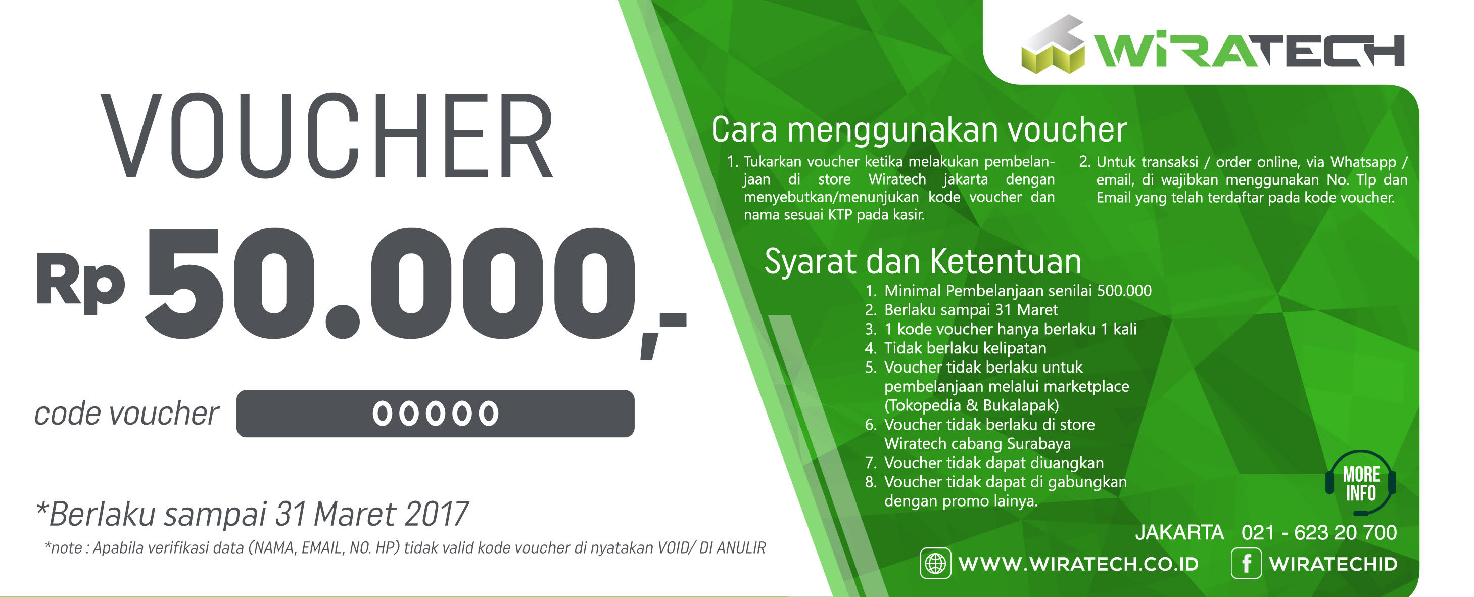 voucher Promo Wiratech 50