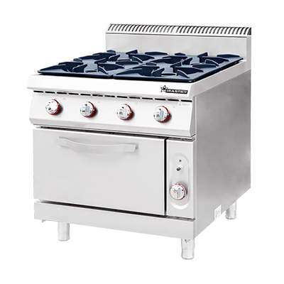 Commercial Gas 4 Burner with Oven CKB-900GO